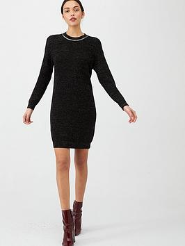 v-by-very-sparkle-lurex-trim-knitted-dress-black