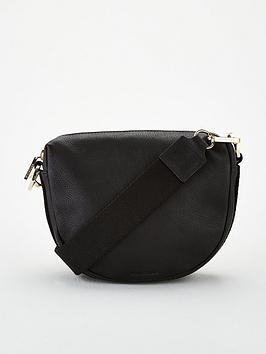whistles-earl-leather-webbing-strap-satchel-black