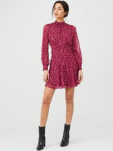 whistles-falling-leaves-mini-dress-burgundy