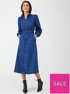 whistles-belted-midi-shirt-dress-denim