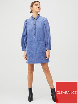 whistles-chunky-cord-western-dress-pale-blue