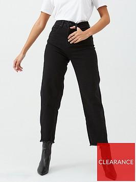 whistles-high-waist-barrel-leg-jeans-black