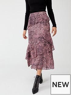 whistles-wild-cat-print-skirt-pink-multi