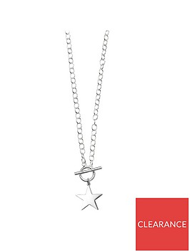 the-love-silver-collection-sterling-silver-star-t-bar-pendant-necklace