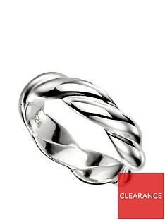 the-love-silver-collection-sterling-silver-solid-twist-ring