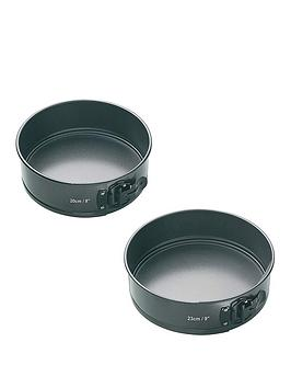masterclass-set-of-2-non-stick-quick-release-springform-cake-tins