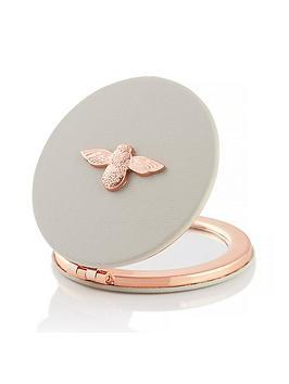 olivia-burton-3d-bee-compact-mirror-grey-rose-gold