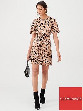 v-by-very-animal-knot-waist-jersey-mini-dress-multi