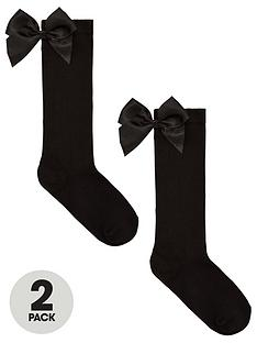 v-by-very-girls-2-pack-big-bow-knee-high-socks-black