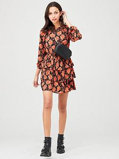 v-by-very-printed-tiered-skater-dress-floral