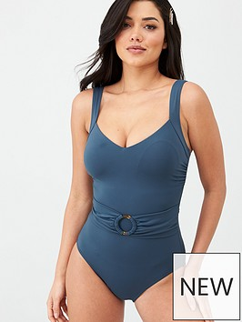 v-by-very-shapewear-ring-belted-swimsuit-teal
