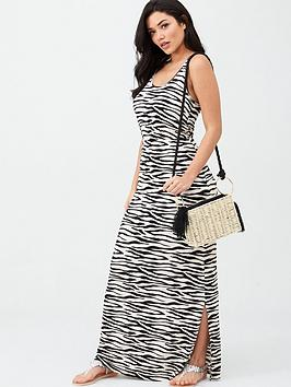 v-by-very-channel-waist-jersey-maxi-beach-dress-zebra-print