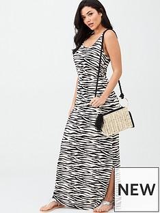 v-by-very-channel-waist-jersey-maxi-dress-zebra-print