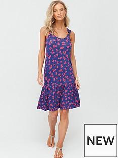 v-by-very-dropped-hem-jersey-dress-navy-ditsy-print