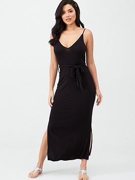 v-by-very-strappy-belted-midi-beach-dress-black