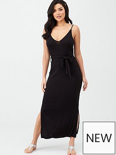 v-by-very-strappy-belted-midi-dress-black