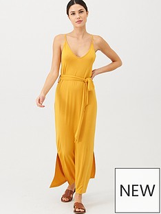 v-by-very-strappy-belted-midi-dress-yellow