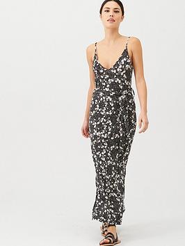 v-by-very-strappy-belted-midi-beach-dress-ditsy-print