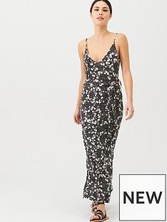 v-by-very-strappy-belted-midi-dress-ditsy-print