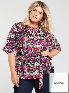 v-by-very-curve-angel-sleeve-blouse-floral-print