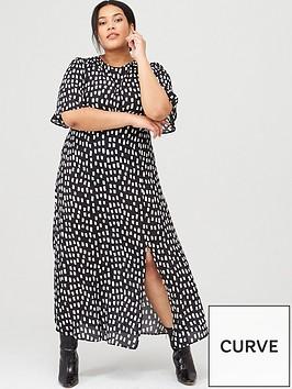 v-by-very-curve-mono-print-midi-dress-square-spot