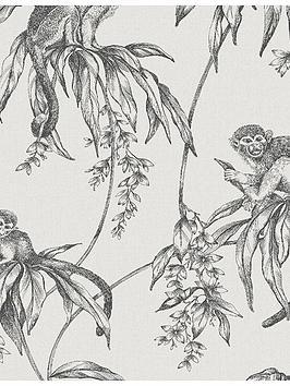 superfresco-easy-saimiri-anthracite-monkey-wallpaper