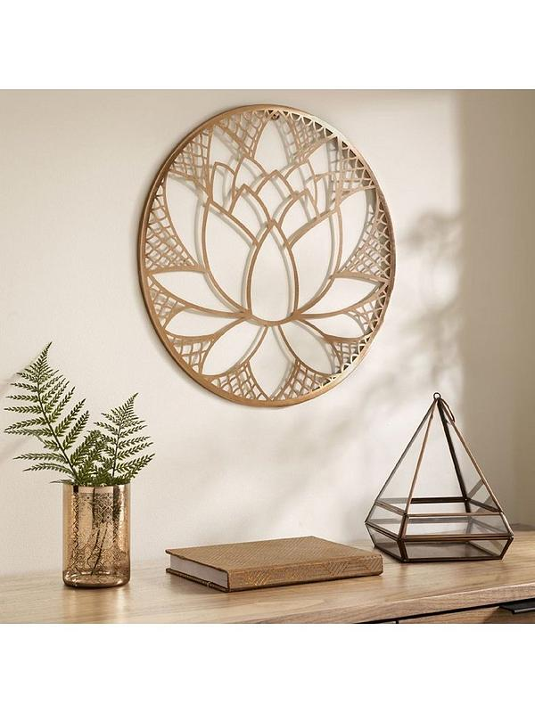 Graham Brown Lotus Blossom Metal Wall Art Very Co Uk
