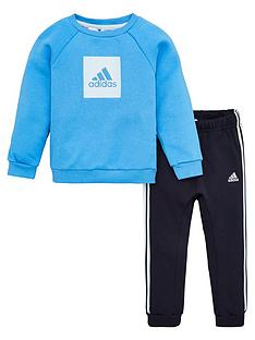 adidas-infant-2-piece-3-stripe-logo-sweatshirt-and-jogger-set-blue