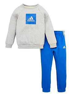 adidas-infant-2-piece-3-stripe-logo-sweatshirt-and-jogger-set-medium-grey-heather