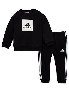 adidas-infants-3-stripe-logo-sweatshirt-and-joggers-set-black
