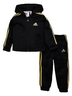 adidas-infants-shiny-full-zip-hooded-tracksuit-black