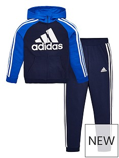 adidas-boys-french-terry-tracksuit-navy