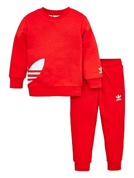 adidas-originals-childrens-big-trefoil-tracksuit-red