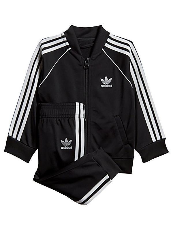 En consecuencia daño Agarrar  adidas Originals Childrens Superstar Tracksuit - Black   very.co.uk
