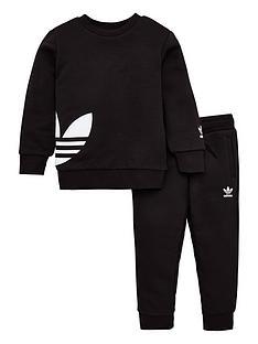 adidas-originals-childrens-big-trefoil-crew-tracksuitnbsp-black
