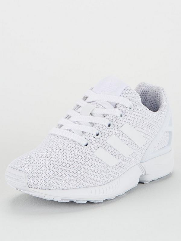 cremagliera Disarmo Virus  adidas Originals ZX FLUX Childrens Trainers - White | very.co.uk