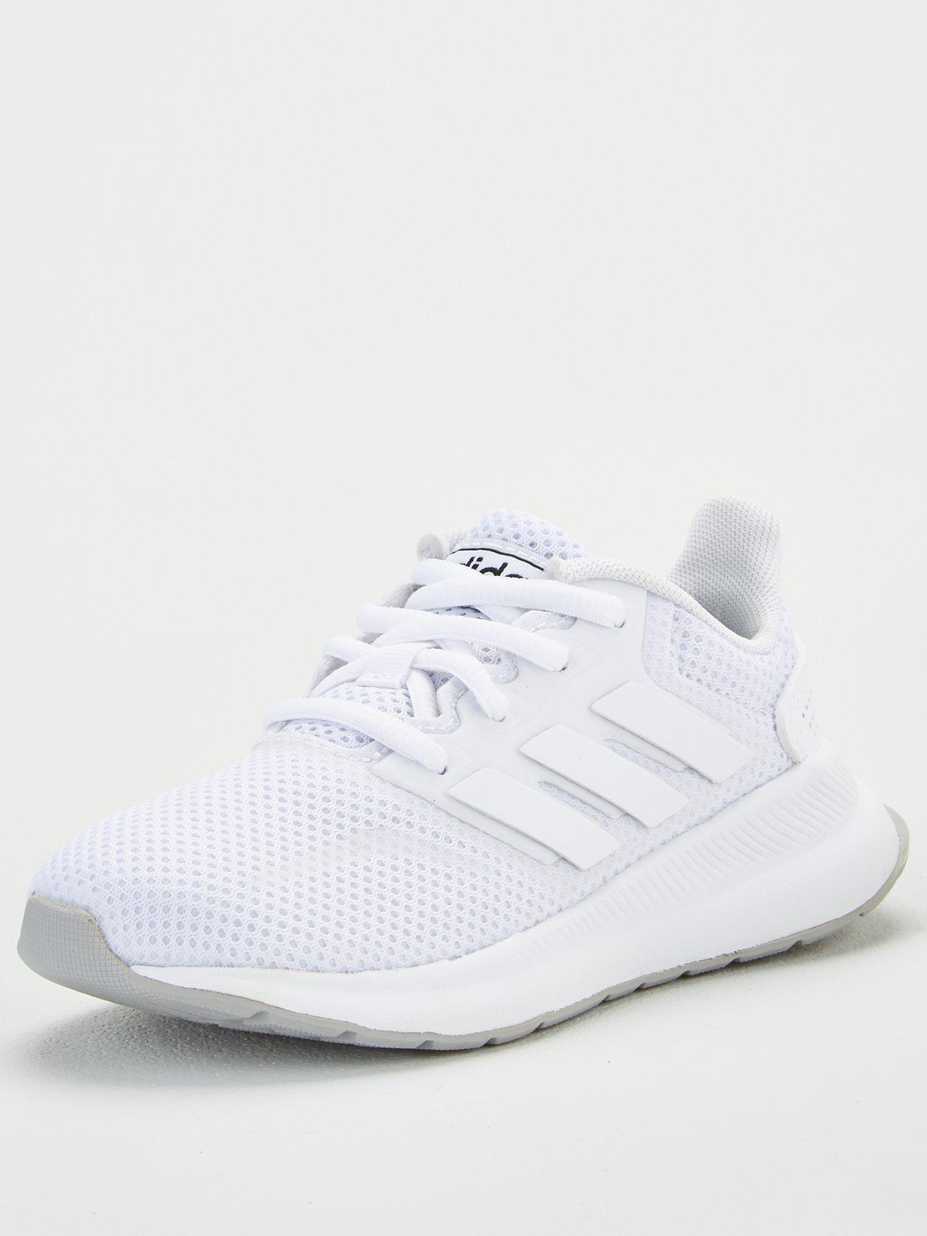 adidas falcon white junior