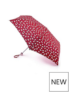 lulu-guinness-beauty-spot-kiss-mini-lite-umbrella-red-print