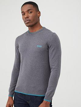boss-rimex-crew-neck-jumper-grey