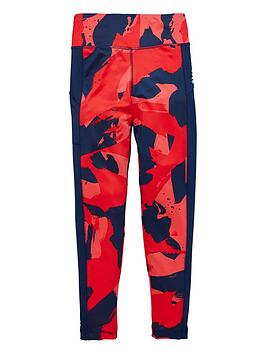 adidas-girls-training-printed-tights-navy