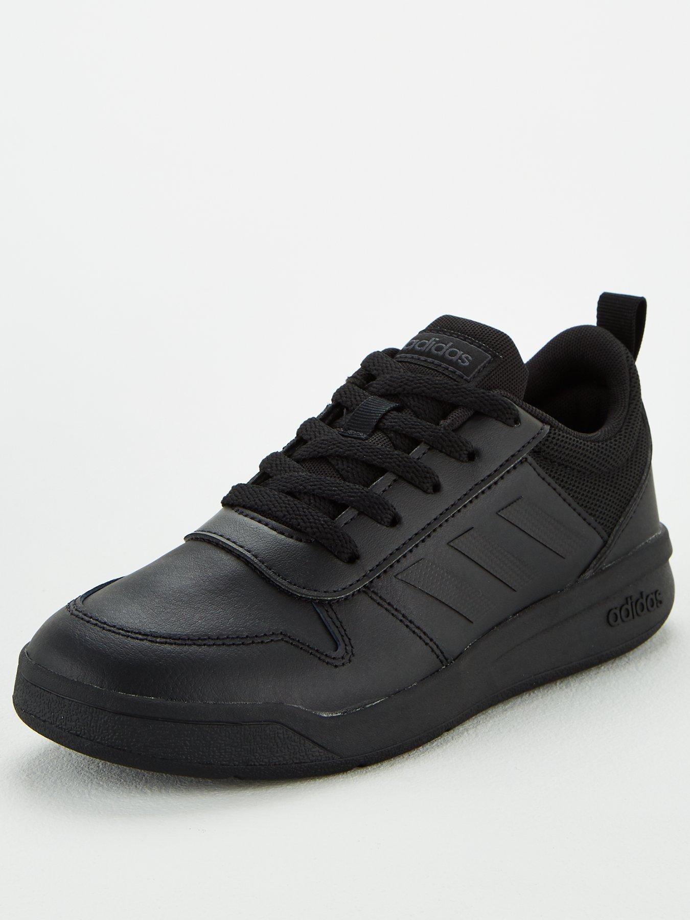 black adidas school trainers