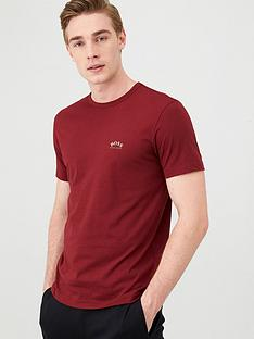 boss-curved-small-logo-crew-t-shirt-red