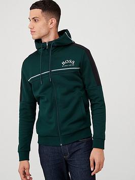 boss-saggy-zip-through-hoodie-forest-green