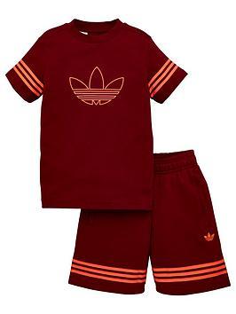 adidas-originals-outline-shorts-tee-set-burgundy