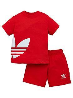 adidas-originals-big-trefoil-shorts-tee-set-red
