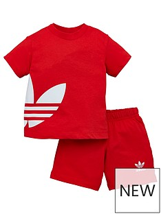 adidas-originals-big-trefoil-shorts-tee-set-red