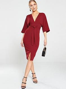 v-by-very-milana-kimono-sleeve-midi-dress-wine