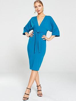 v-by-very-milana-kimono-sleeve-midi-dress-teal