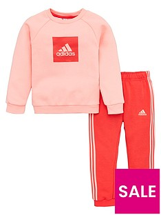 adidas-infant-2-piece-3-stripe-logo-sweatshirt-and-jogger-set-pink