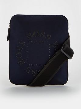 boss-pixel-logo-print-envelope-bag-navy